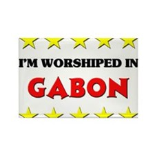 I'm Worshiped In Gabon Rectangle Magnet