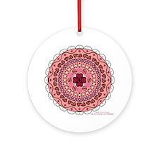 Lacy Valentine's Ornament (Round)