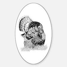 Wild Turkey Oval Decal