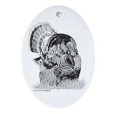 Wild Turkey Oval Ornament