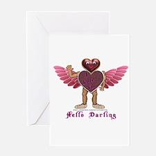 Heartman, Hello Darling Greeting Card