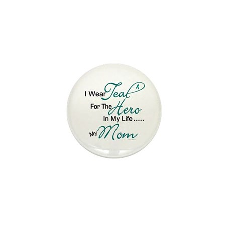 Teal For My Hero 1 (Mom OC) Mini Button (10 pack)
