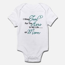 Teal For My Hero 1 (Mom OC) Infant Bodysuit