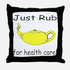 Rub Health Throw Pillow