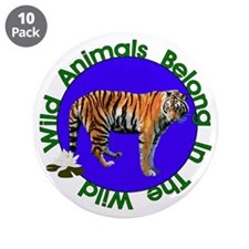"""Tatiana The Tiger 3.5"""" Button (10 pack)"""