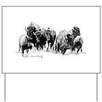 Buffalo Herd Yard Sign