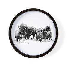 Buffalo Herd Wall Clock