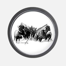 Buffalo Herd Wall Clock