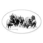 Buffalo Herd Oval Sticker