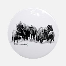 Buffalo Herd Ornament (Round)