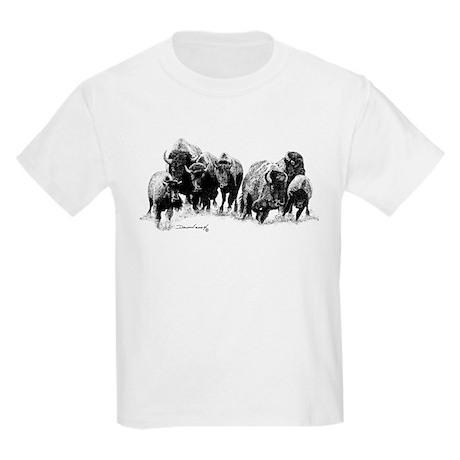 Buffalo Herd Kids Light T-Shirt