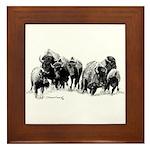 Buffalo Herd Framed Tile
