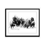 Buffalo Herd Framed Panel Print