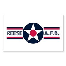 Reese Air Force Base Rectangle Decal