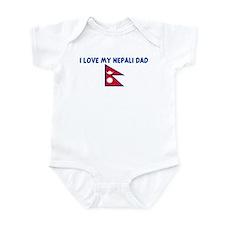 I LOVE MY NEPALI DAD Infant Bodysuit