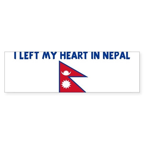 I LEFT MY HEART IN NEPAL Bumper Sticker