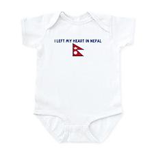 I LEFT MY HEART IN NEPAL Infant Bodysuit
