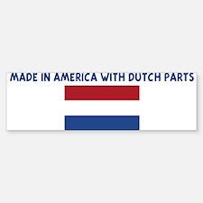 MADE IN AMERICA WITH DUTCH PA Bumper Bumper Bumper Sticker