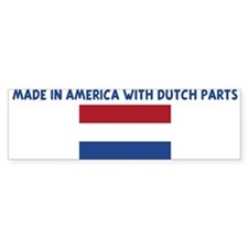 MADE IN AMERICA WITH DUTCH PA Bumper Bumper Sticker