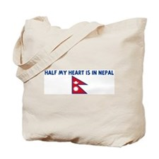 HALF MY HEART IS IN NEPAL Tote Bag