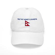 HALF MY HEART IS IN NEPAL Baseball Cap