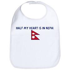 HALF MY HEART IS IN NEPAL Bib