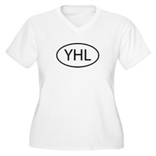 YHL Womes Plus-Size V-Neck T-Shirt