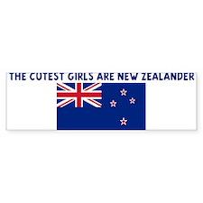THE CUTEST GIRLS ARE NEW ZEAL Bumper Bumper Sticker