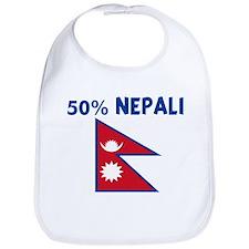 50 PERCENT NEPALI Bib