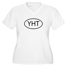 YHT Womes Plus-Size V-Neck T-Shirt