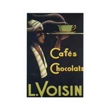 Vintage L. Voison Waiter Post Rectangle Magnet