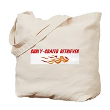 Curly-Coated Retriever (fire  Tote Bag