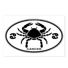 Cancer Sign B&W Postcards (Package of 8)