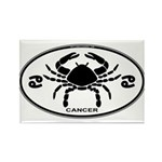 Cancer Sign B&W Rectangle Magnet