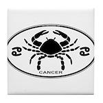 Cancer Sign B&W Tile Coaster