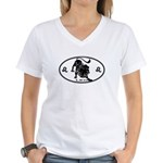 Leo Sign B&W Women's V-Neck T-Shirt