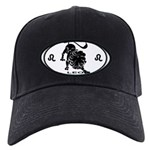 Leo Sign B&W Black Cap