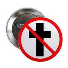 """No Christianity 2.25"""" Button"""
