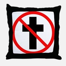 No Christianity Throw Pillow