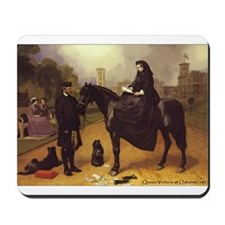 Queen Victoria on a horse. Mousepad