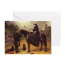 Queen Victoria on a horse. Greeting Card