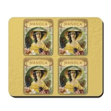 Manola Vintage Cigar Label Mousepad