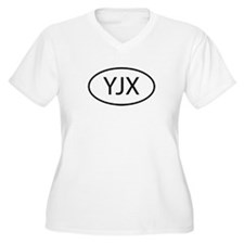 YJX Womes Plus-Size V-Neck T-Shirt