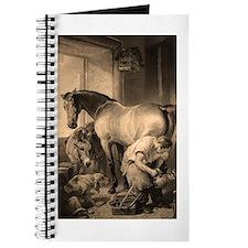 Farrier Shoeing A Horse Journal