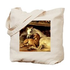Arabian mare & foal. Horse Tote Bag