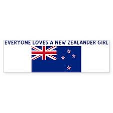 EVERYONE LOVES A NEW ZEALANDE Bumper Bumper Sticker