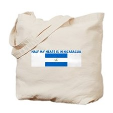 HALF MY HEART IS IN NICARAGUA Tote Bag