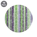 "Vintage Purple and Green 3.5"" Button (10 pack)"