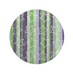 """Vintage Purple and Green 3.5"""" Button"""