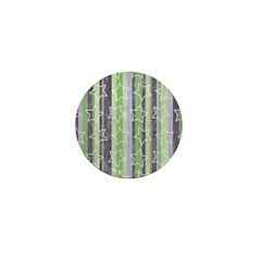 Vintage Purple and Green Mini Button